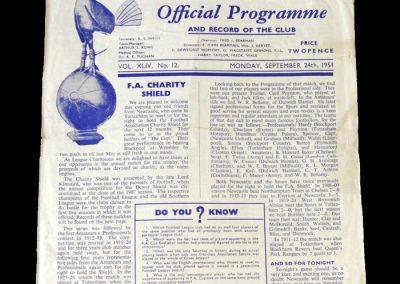 Spurs v Newcastle 24.09.1951 - FA Charity Shield