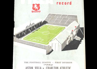 Aston Villa v Charlton 10.11.1951