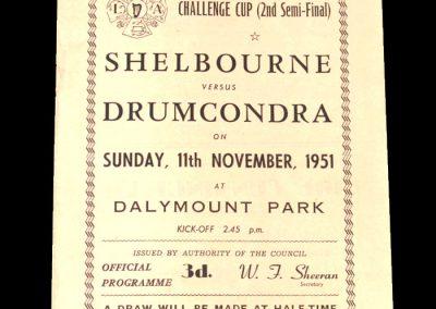 Shelbourne v Drumcondra 11.11.1951