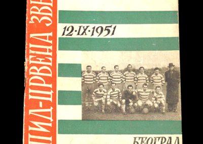 Red Star Belgrade v Rapid Vienna 12.11.1951 (Friendly)
