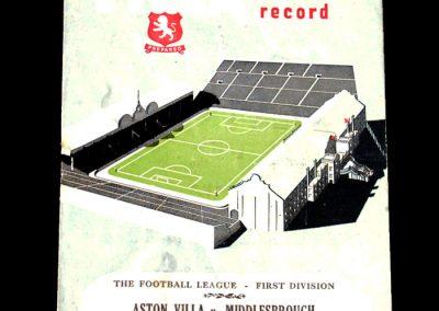Aston Villa v Middlesbrough 24.11.1951