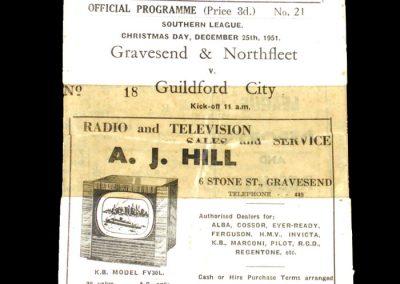 Gravesend v Guidford 25.12.1951