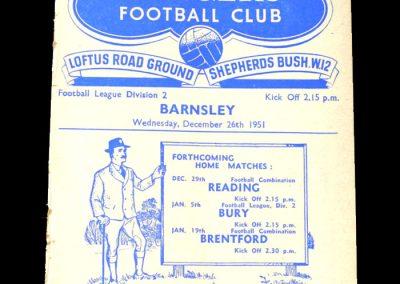 QPR v Barnsley 26.12.1951
