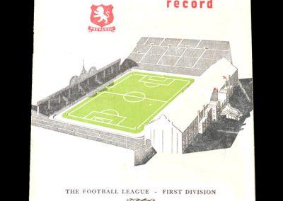 Aston Villa v Blackpool 19.01.1952