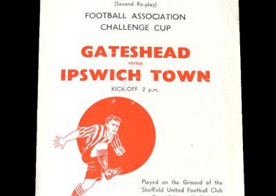 Gateshead v Ipswich 21.01.1952 - FA Cup 3rd Round 2nd Replay