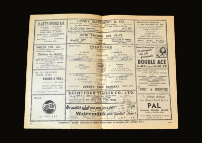 Brentford v QPR 09.02.1952 (passing of George VI)