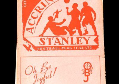 Accrington Stanley v York 15.03.1952