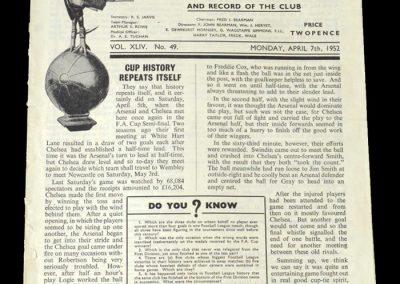 Arsenal v Chelsea 07.04.1952 - FA Cup Semi Final