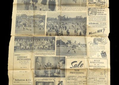 Newcastle v South Rhodesia 18.06.1952 (Press cuttings)