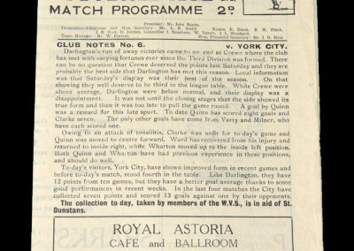 Darlington v York 02.10.1948