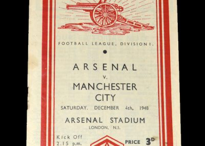 Arsenal v Man City 04.12.1948