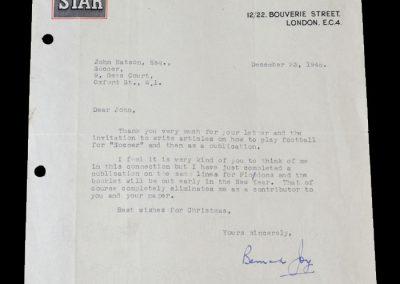 Bernard Joy Letter 23.12.1948