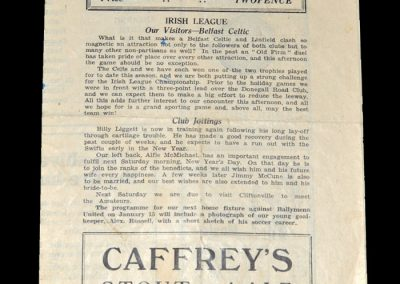 Linfield v Belfast Celtic 27.12.1948 (Riot Match)
