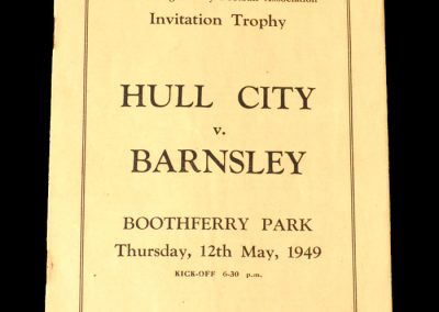 Hull v Barnsley 12.05.1949 - East Riding Trophy