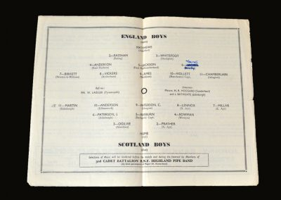 England Boys v Scotland Boys 14.05.1949