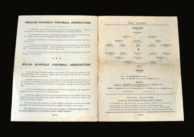 England Boys v Wales Boys 21.05.1949