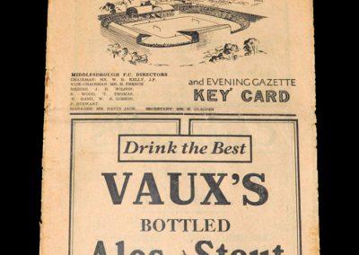 Middlesbrough v Charlton 25.09.1948