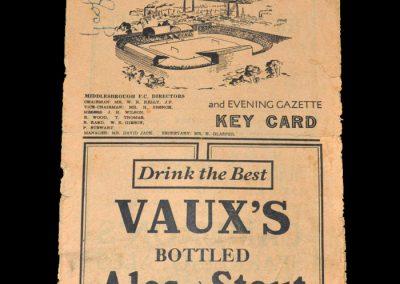 Middlesbrough v Newcastle 18.04.1949