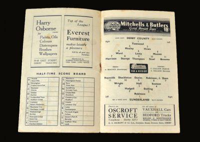 Derby v Sunderland 11.09.1948