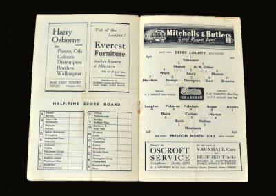 Derby v Preston 09.10.1948