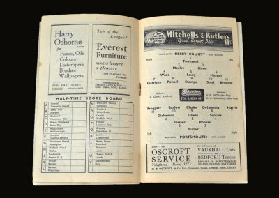 Derby v Portsmouth 20.11.1948