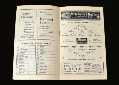 Derby v Arsenal 27.12.1948