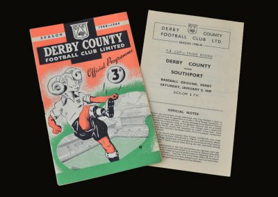 Derby v Southport 08.01.1949 - FA Cup 3rd Round