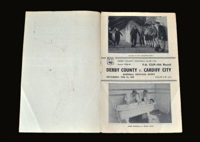 Derby v Cardiff 12.02.1949 - FA Cup 5th Round (Foam Bath?!)