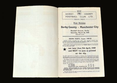 Derby v Man City 26.03.1949