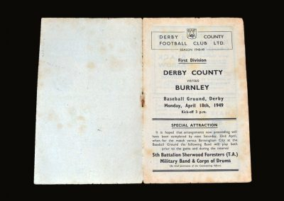 Derby v Burnley 18.04.1949