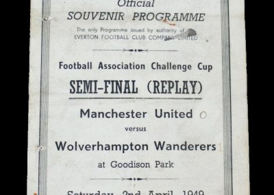 Man Utd v Wolves 02.04.1949 - FA Cup Semi Final Replay