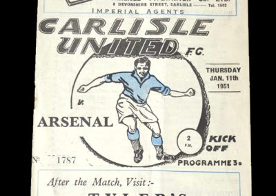 Arsenal v Carlisle 11.01.1951 - FA Cup 3rd Round Replay