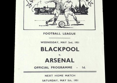 Arsenal v Blackpool 02.05.1951