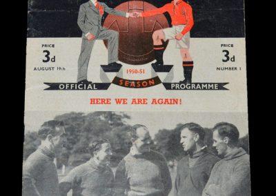 Man Utd v Fulham 19.08.1950