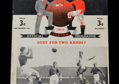 Man Utd v Blackpool 02.09.1950