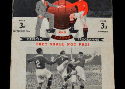 Man Utd v Charlton 16.09.1950
