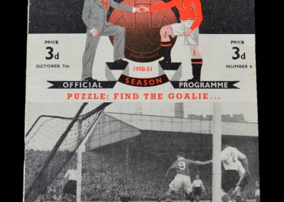 Man Utd v Sheff Wed 07.10.1950