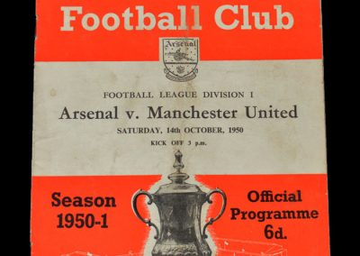 Man Utd v Arsenal 14.10.1950