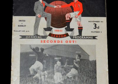 Man Utd v Burnley 04.11.1950