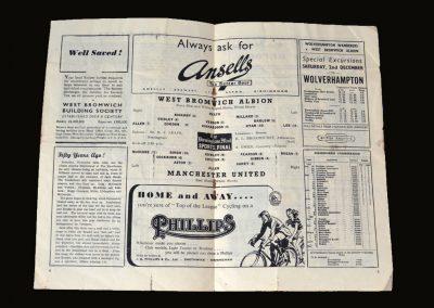 Man Utd v West Brom 25.11.1950