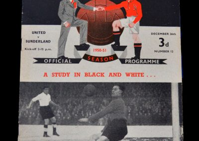 Man Utd v Sunderland 26.12.1950