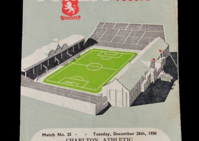 Man Utd Reserves v Aston Villa Reserves 27.12.1950