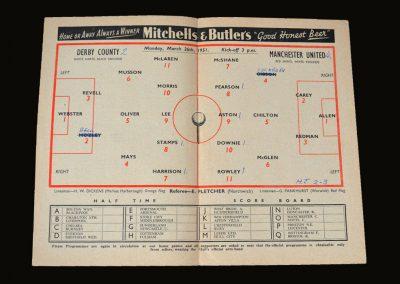 Man Utd v Derby 26.03.1951