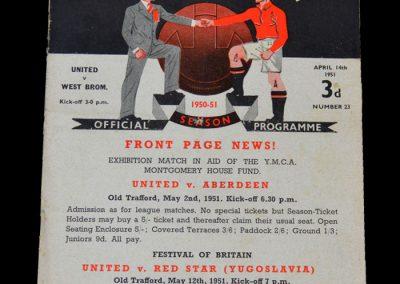 Man Utd v West Brom 14.04.1951