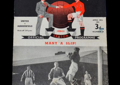 Man Utd v Huddersfield 28.04.1951