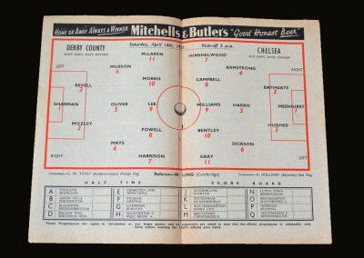 Derby v Chelsea 14.04.1951