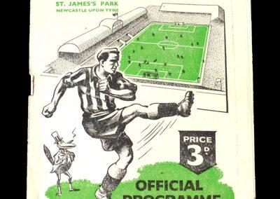 Newcastle Reserves v Blackpool Reserves 04.11.1950