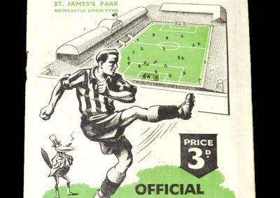 Newcastle v Charlton 25.11.1950