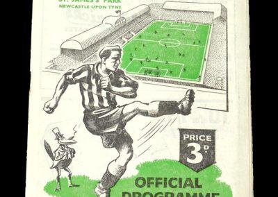 Newcastle v Stoke 16.12.1950