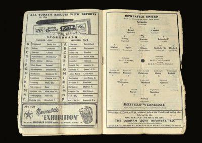 Newcastle v Sheff Wed 17.02.1951